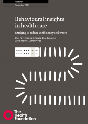 Behavioural insights in health care