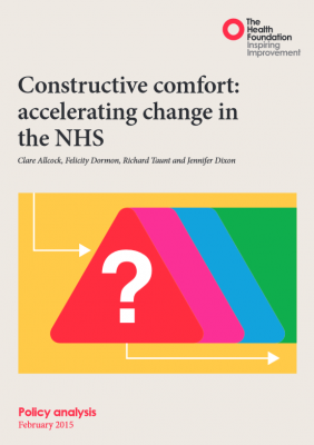 Constructive comfort: accelerating change in the NHS