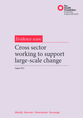Cross sector working to support large-scale change
