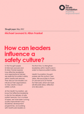 How can leaders influence a safety culture?