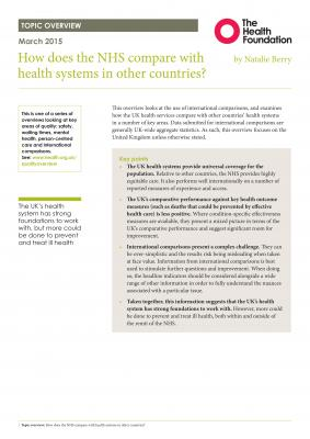 How does the NHS compare with health systems in other countries?