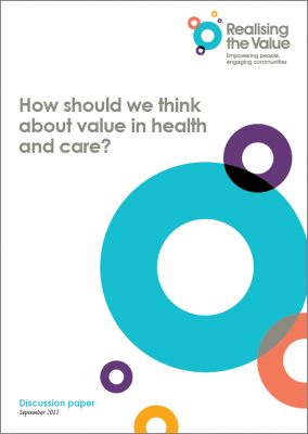 How should we think about value in health and care?