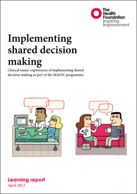 Implementing shared decision making