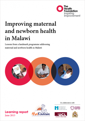 Improving maternal and newborn health in Malawi