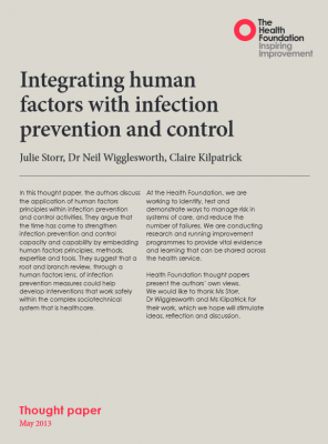 Integrating human factors with infection prevention and control