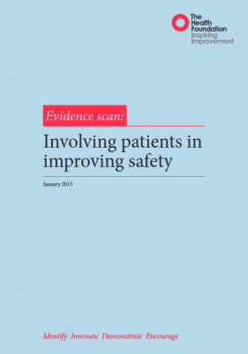 Involving patients in improving safety