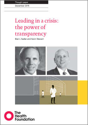 Leading in a crisis: the power of transparency