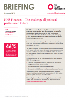 NHS finances: the challenge all political parties need to face