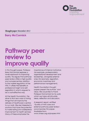 Pathway peer review to improve quality