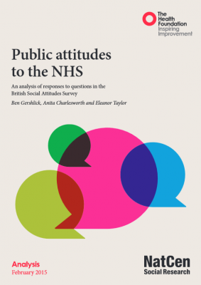 Public attitudes to the NHS