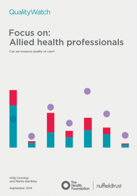 QualityWatch: Focus on allied health professionals