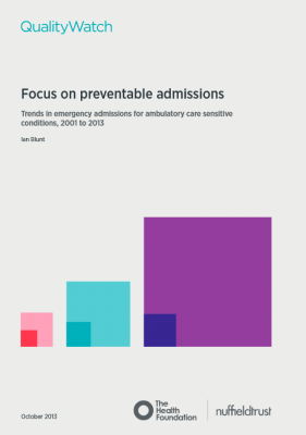 QualityWatch: Focus on preventable admissions