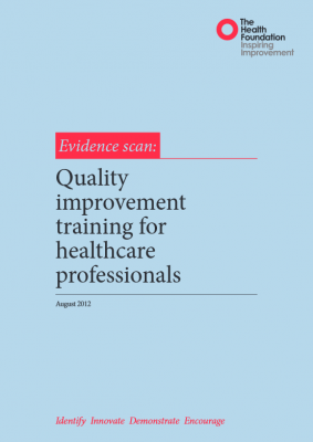 Quality improvement training for healthcare professionals