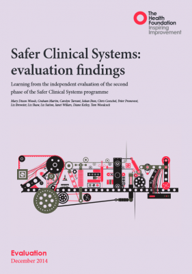 Safer Clinical Systems: evaluation findings