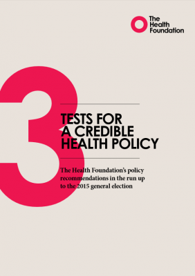 Three tests for a credible health policy
