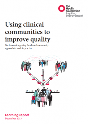 Using clinical communities to improve quality