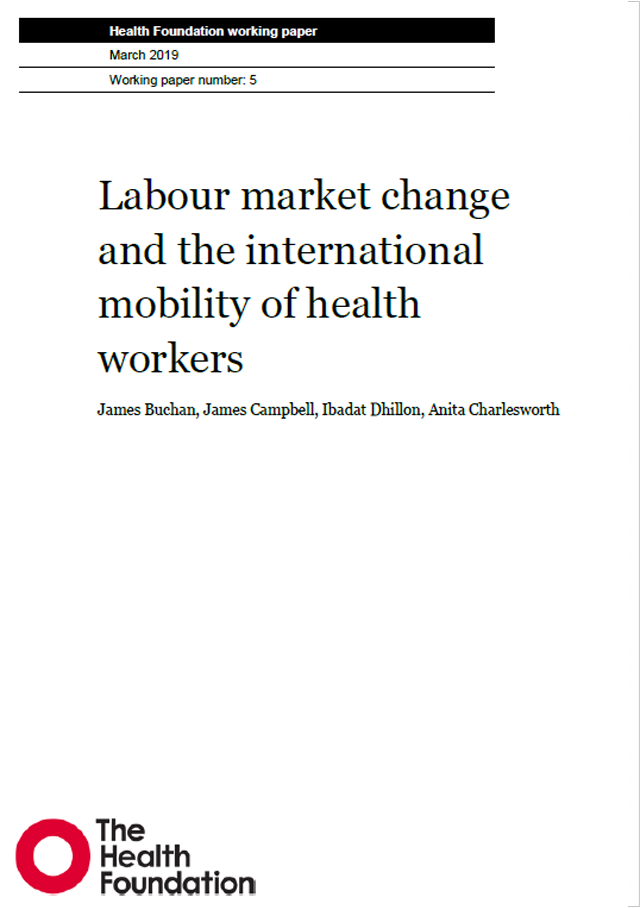Labour market change and the international mobility of health