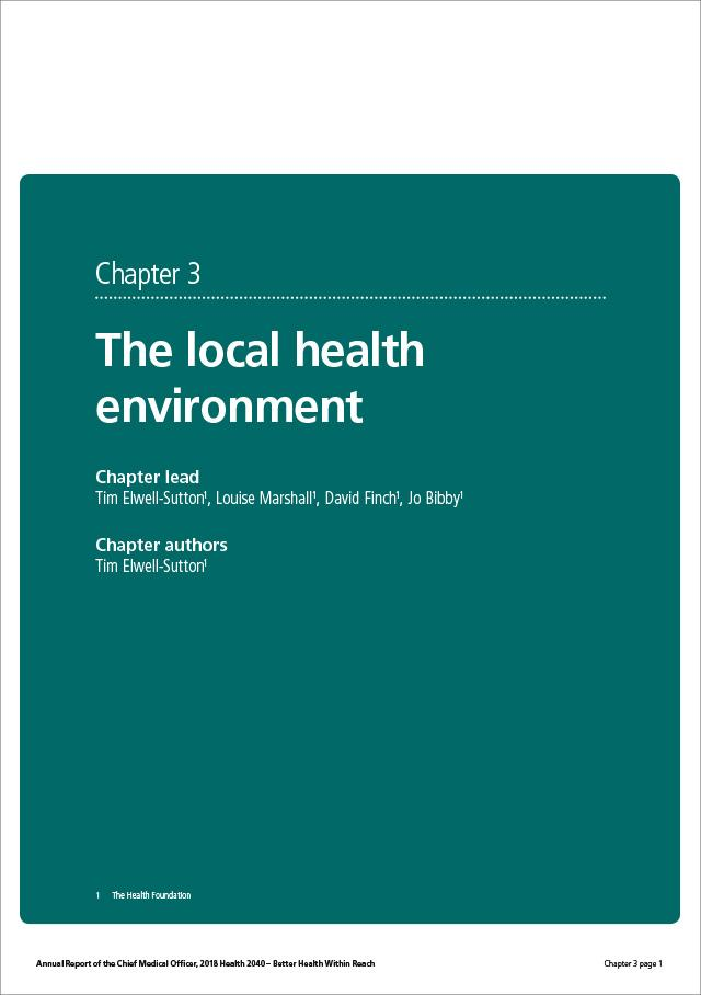The local health environment CMO report 2018