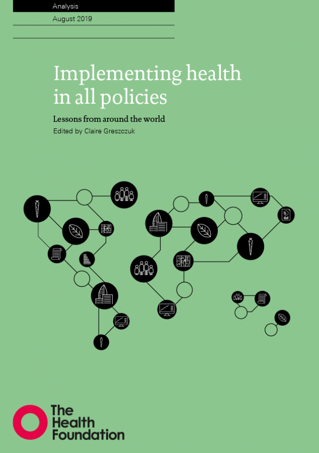 Implementing health in all policies - Cover image