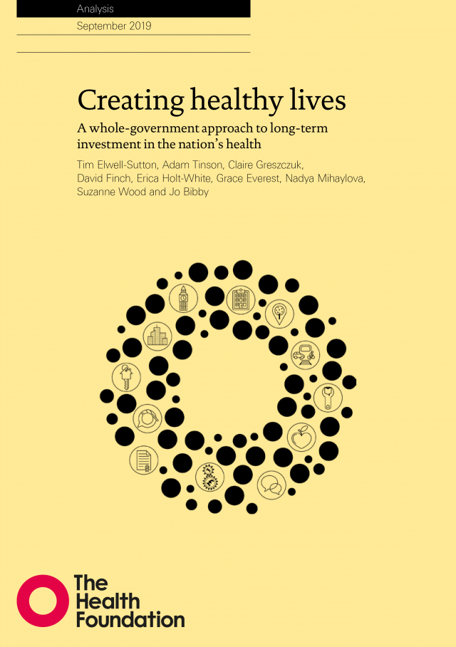 Creating healthy lives - Cover art