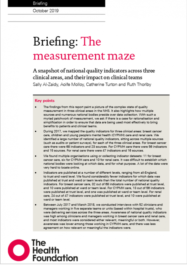 Measurement maze briefing cover