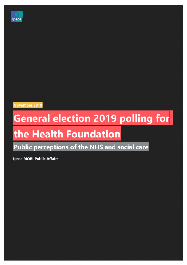 Front cover image for December 2019 Health Foundation report, Public perceptions of health and social care