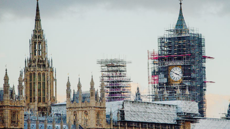 Big Ben in scaffolding