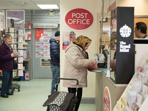 People at the post office